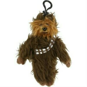 Star-Wars-Chewbacca-7-034-Plush-Coin-Backpack-Clip