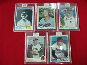 SCARCE-BLANK-BACK-TOPPS-BASEBALL-CARDS-GROUP-OF-5-W-JOHNSON-1973-1978-1982
