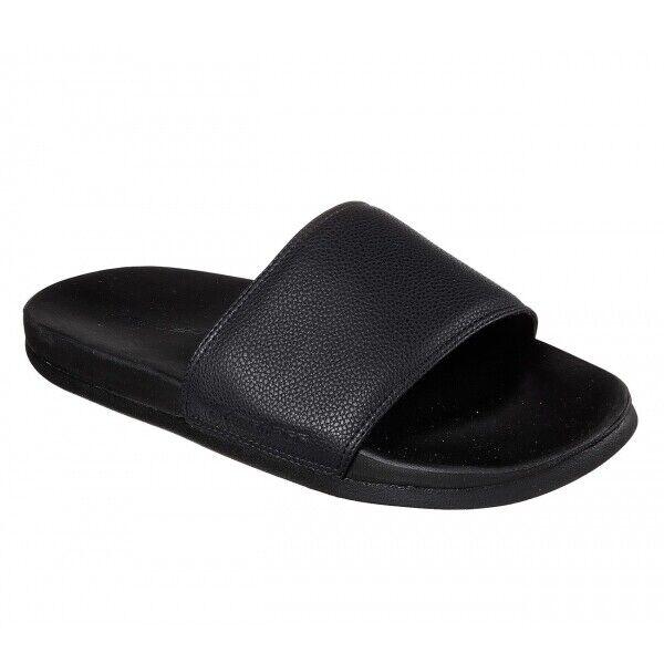 26d9eaacae25 Mens Skechers Gambix Black Slide on Flip Flop Slider Sandals Sz Size UK 7    EU 41   US 8 for sale online