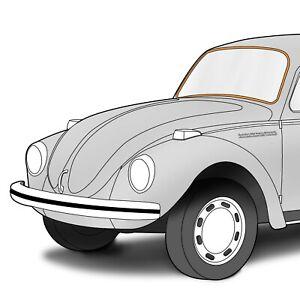 1953-1957 Volkswagen Beetle Sedan Aluminum Rear Window Molding Trim 398341