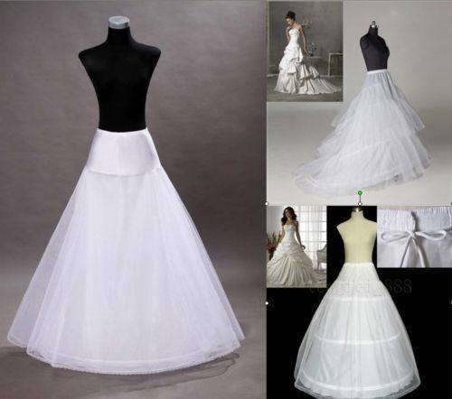 Hot 3 Styles Plus Size//Normal Size White Wedding Gown Petticoat Slip Underskirt