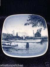 """BING & GRONDAHL 3.25"""" PLAQUETTE BLUE WHITE KONGESKIBET 1719 / 5708 KJELD BONFILS"""