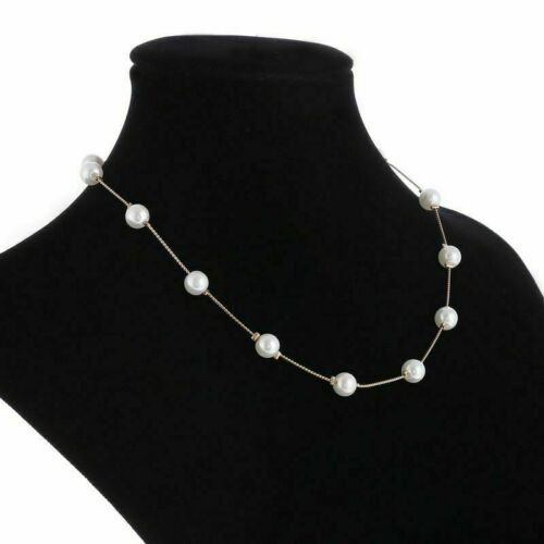 Simulated Pearl Necklace Top Quality Anti Allergy Gold Statement Necklace Chain
