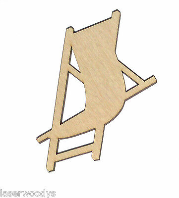 Beach Chair Unfinished Flat Wood Shape Variety Sizes BC4656 Laser Crafts
