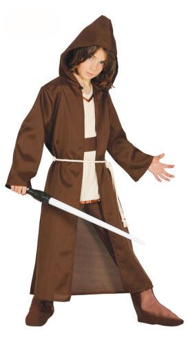 Kids JEDI Costume Garçons Filles Marron Robe Star Wars Déguisement Âge 4-6-9-12 NEUF