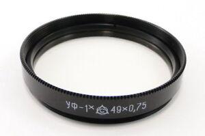 NEW-Russian-USSR-Ultraviolet-UV-1x-Lens-Filter-49mm-Helios-44-2-44-81N-Mir-1