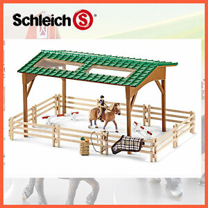 NEW SCHLEICH HORSE RIDING ARENA 42189 FARM LIFE SERIES EQUESTRIAN HAND PAINTED