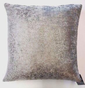 Silver-Glitter-etincelle-gris-epais-velours-Bling-18-034-Housse-De-Coussin-6-99-chaque