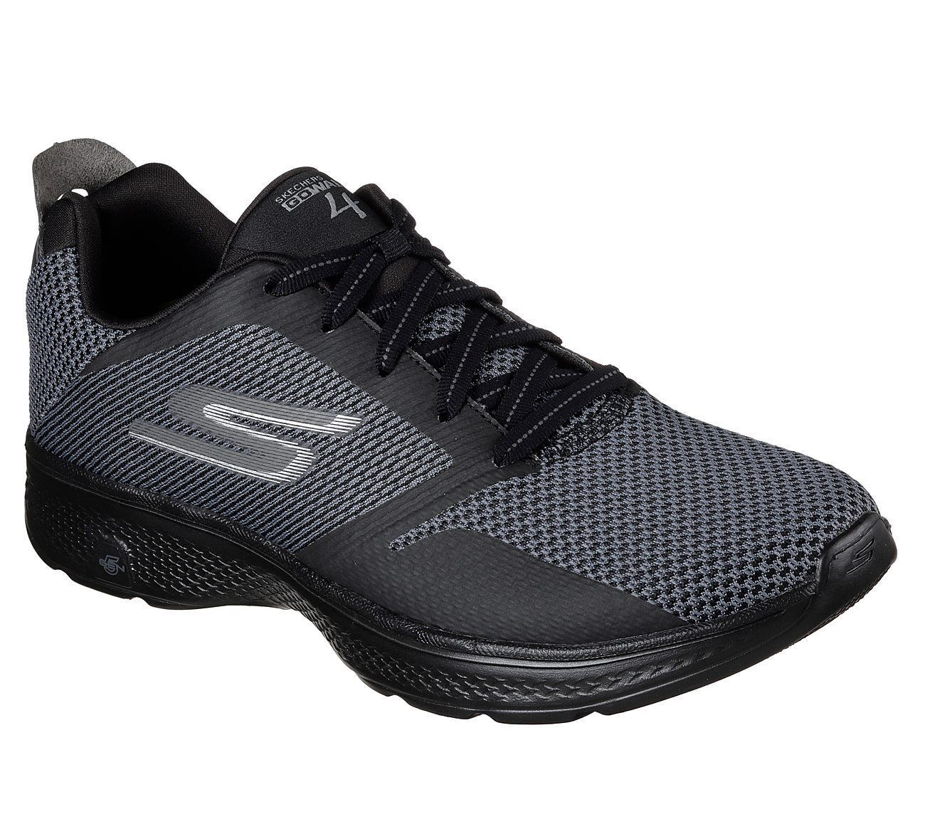 SKECHERS - Hombre's Go Walk 4 - SKECHERS Elect Smart Casual Trainers in Negro/Gris 41f4b6