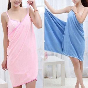 Wearable-Bath-Microfiber-Towel-Robe-Fast-Dry-Women-Bathrobe-Spa-Wrap-Dress