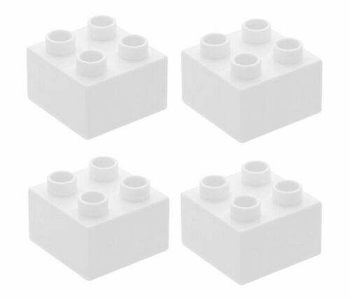 3437 Lego 4x DUPLO White Brick 2x2 NEW!!!