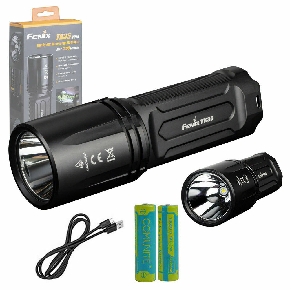 Fenix TK35 2018 1300LM linterna LED táctica CREE XHP35 Hi 18650 de carga USB