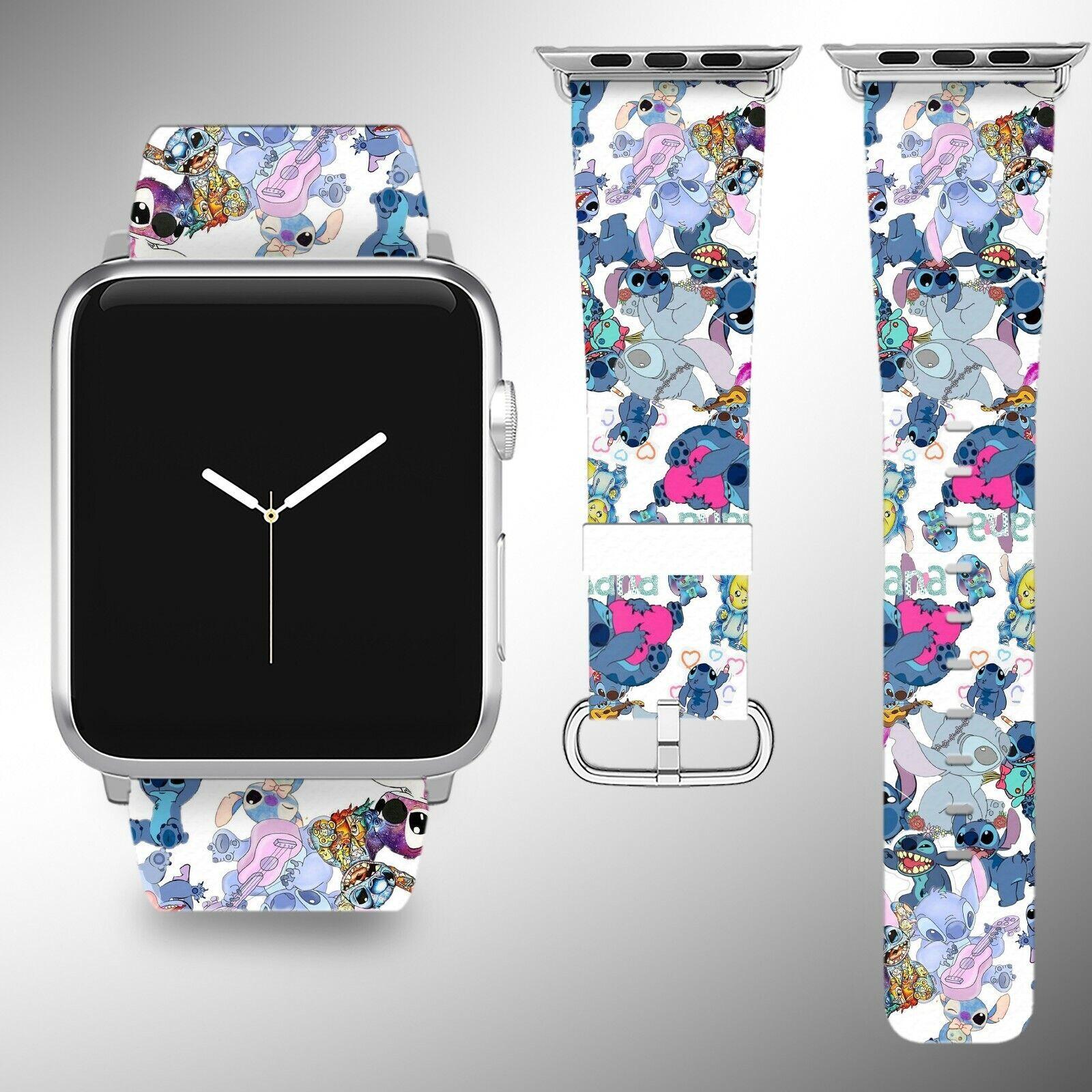 iwatch: Lilo & Stitch Apple Watch Band 38 40 42 44 mm iWatch series 6 5 4 3 SE wristband