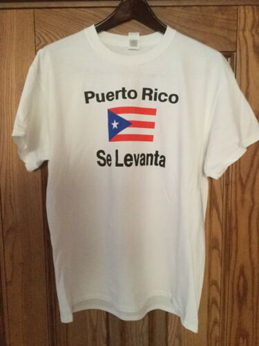 Trump T-shirt Puerto Rico se levanta printed x-large
