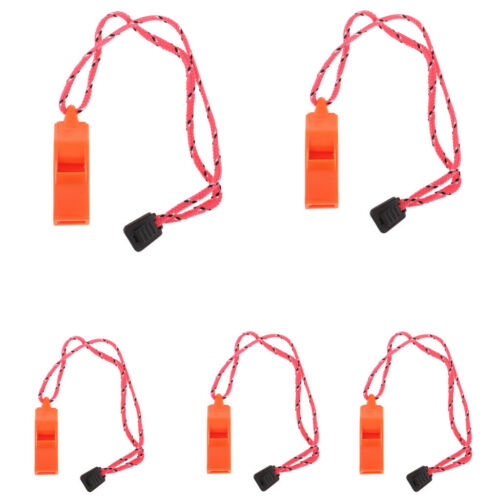 5pcs Orange Camping Emergency Survival Whistles Boating Marine Backpacking