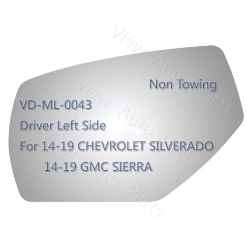 Mirror Glass For GM Silverado Sierra 1500//2500//3500 Driver Left Side LH #4529