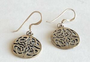 Sterling-Silver-925-Filigree-Round-5-8-034-Diameter-Pierced-Earrings
