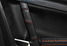 ORANGE STITCH 2X REAR DOOR HANDLE SKIN COVERS FITS VAUXHALL OPEL VECTRA C SIGNUM