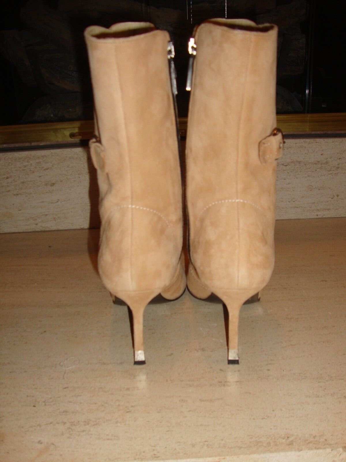 GORGEOUS  795 BEIGE SUEDE MID MID MID CALF Stiefel BY CLAUDIA CIUTI WORN ONCE 5e47a5