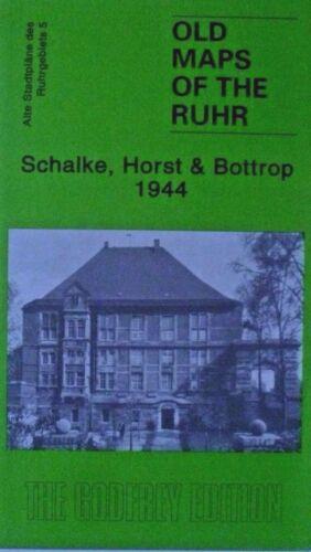 Clearance Price Old Map of the Rhur  Schalke Horst /& Bottrop 1944