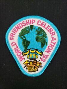 🌎  VTG 1993 Girl Scouts World Friendship Celebration '93 Patch Thinking Day 🌎