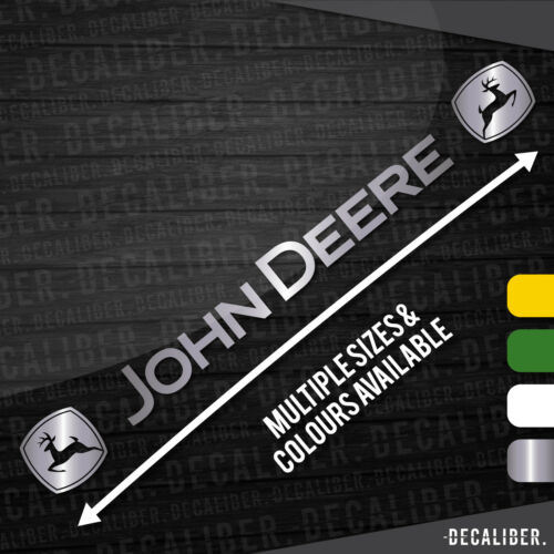 Decal Tractor Multiple Colours /& Sizes John Deere Badge Both Sides Sticker