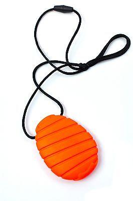 Silicone Teething Nursing Breastfeeding Necklace by Bitey Beads- Oval pendant