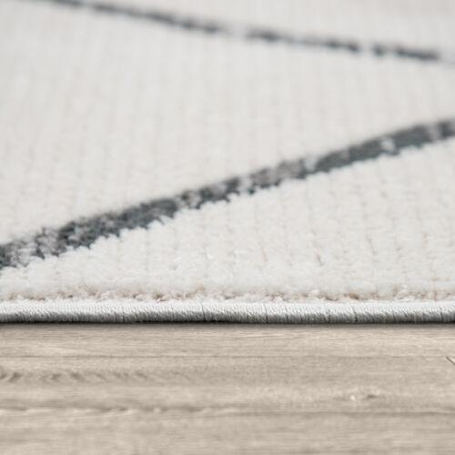 Teppich Wohnzimmer Kurzflor Modernes Skandinavischem Muster Abstrakt Creme Grau