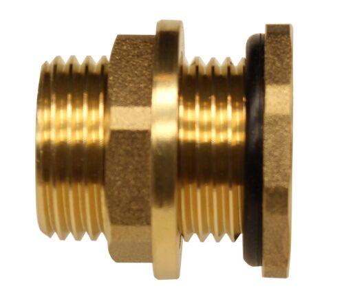 "RAINPAL BBF020 Brass Bulkhead Tank Fitting 1//2/""inch Female Pipe and 3//4/"" male GH"