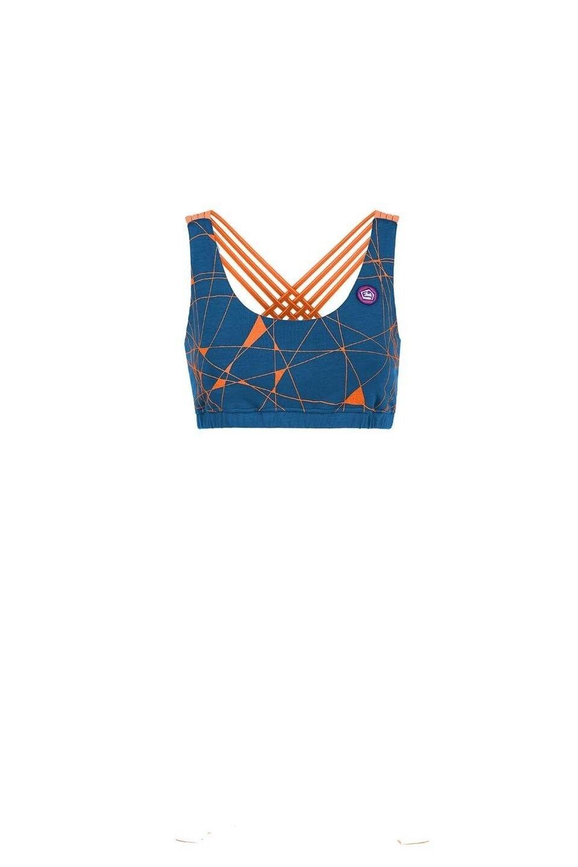 E9 Alex - Sport reggiseno;arrampicata-top; Top da donna, blu cobalto