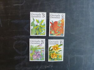 1994-GRENADA-GRENADINES-ORCHIDS-SET-4-MINT-STAMPS-MNH