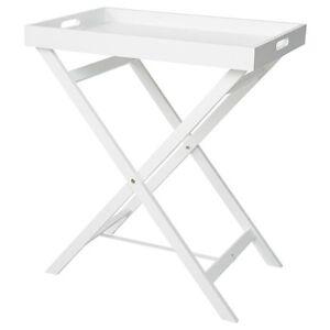 NEW Folding Tray Table - White