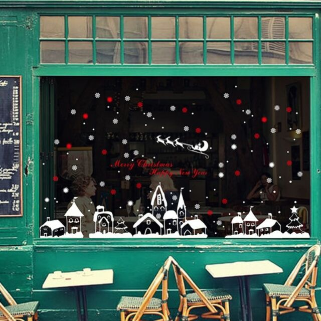 DIY Vinyl Removable Decal Window Decor&Christmas Fashion Snow Town Wall Stickers