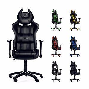 Diablo X One Horn Gaming Stuhl Bürostuhl Schreibtischstuhl Drehstuhl