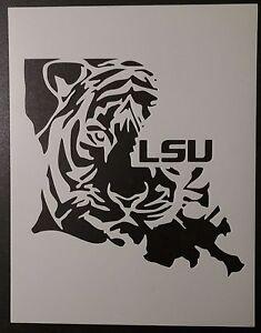 "Louisiana State Shaped LSU Tigers 8.5"" x 11"" Custom ..."