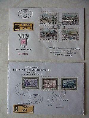 """+(77)-2 Briefe ,,Österreich"""" Gelaufen 1964 / 1972--einschreiben / Ersttag üBerlegene (In) QualitäT"""