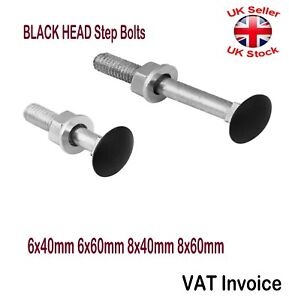 Black Head Decorative Step Bolt Screws Bolts 4 Sizes 6x40 6x60 8x40