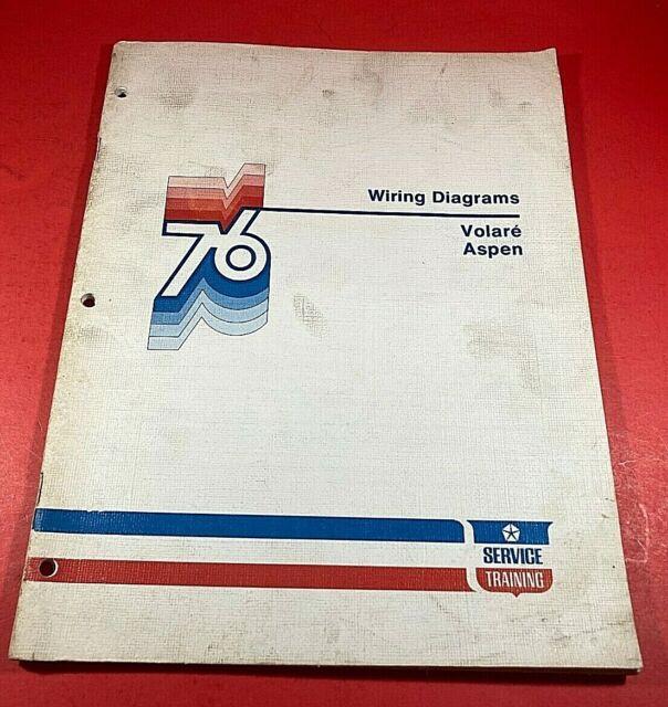 1976 Chrysler Wiring Diagrams Volare Aspen Service