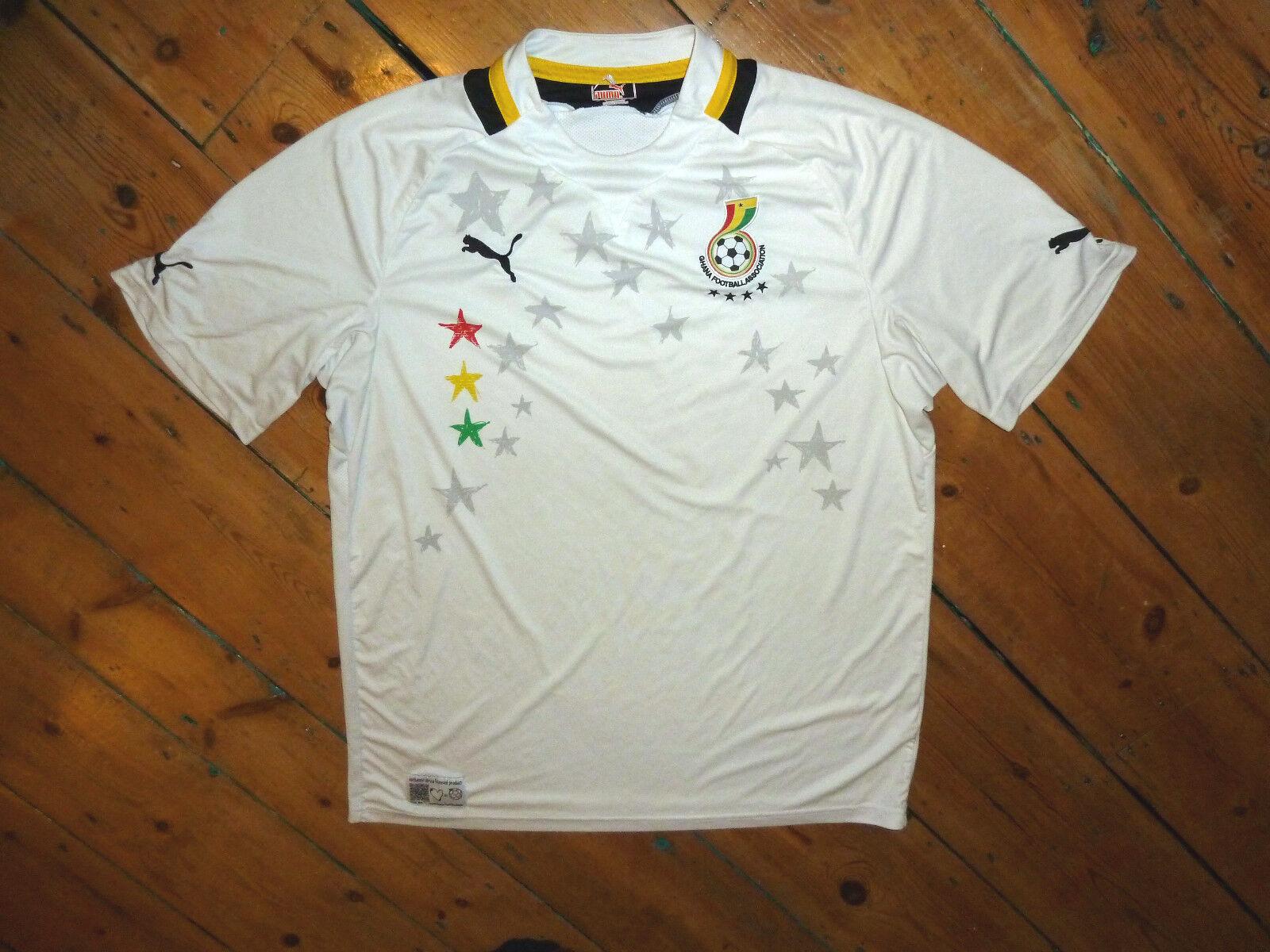 Ghana Hemd  Fußballtrikot Fußball Trikot Maglia Indossata Maillot Porté