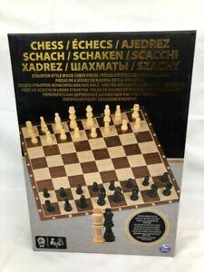 Set-di-scacchi-in-legno-giochi-da-tavolo-include-Board-amp-32-pezzi-da-SPIN-MASTER-NUOVO-CON-SCATOLA