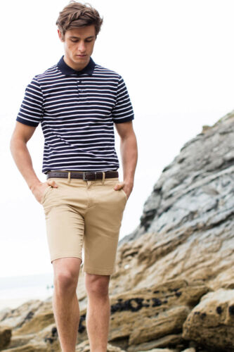 Mens Stretch Chino Shorts Cargo Casual Summer Combat Cotton Smart Fashion FR605