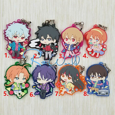 Hot Japan Anime Cosplay Gintama Gintoki Rubber Strap Keychain Pendant A+