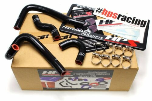 HPS Black ReinForced Silicone Heater Hose Kit For Mazda 93-95 RX7 FD3STubo