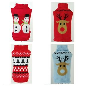 Christmas-Knitted-Dog-Jumper-Pet-Clothes-Sweater-Small-To-Medium-Dogs