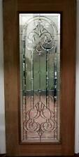 BEAUTIFUL CUT GLASS  MAHOGANY ENTRY DOOR - JHL2167-91
