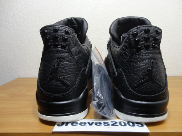 f585202b03e411 Nike Air Jordan IV 4 Retro PRM Black Pinnacle Pony Hair 819139-010 Sz 10  for sale online