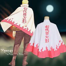 Immortal Mode Naruto Uzumaki 6th Hokage Cosplay Costume Cloak Cape