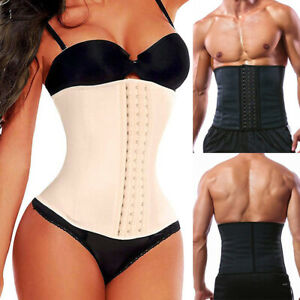 Womens Latex Waist Trainer Corset Weight Loss Hourglass Body Shaper Cincher Belt