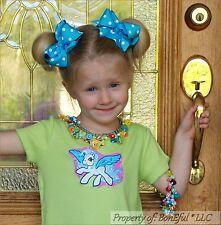 BonEful RTS NEW Little GIRL 5//6 My Little Pony Set Green Knit Top Shirt Aqua Bow