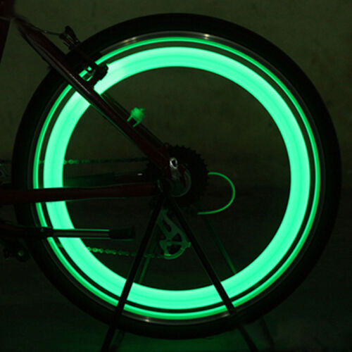 2x Green LED Flash Light Bicycle Motorcycle Car Bike Tyre Tire Wheel Valve Lamp